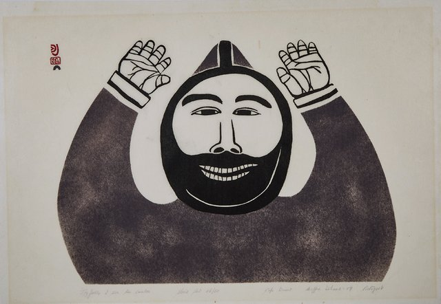 "Josephie Pootoogook, ""Joyfully I See Ten Caribou,"" 1959"
