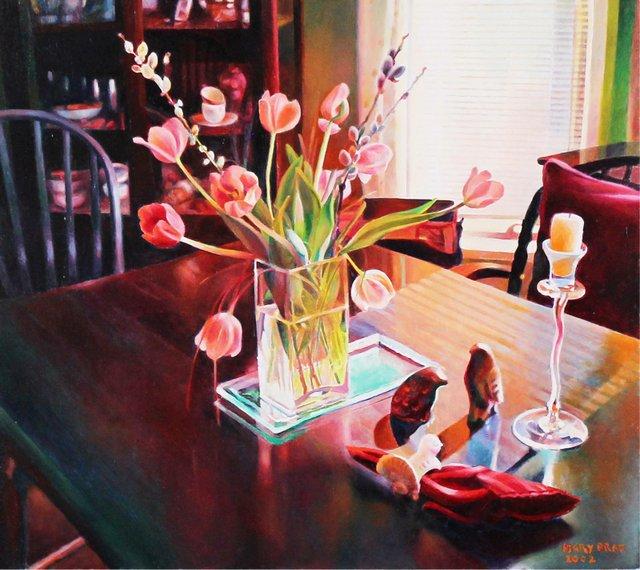 "Mary Pratt, ""Two Stone Birds in the Spring,"" 2002"