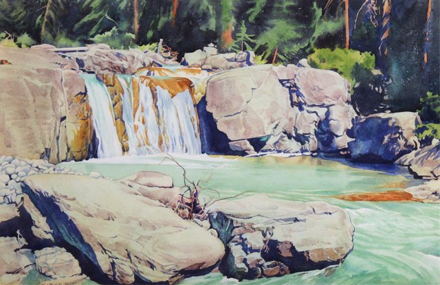 "W.J. Phillips, ""Falls Near The Icefields,"" 1950"