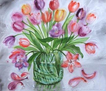 "David Blackwood, ""Foggy Weather Tulips, 2017"