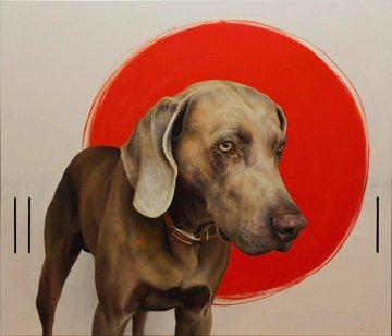 "Joe Coffey, ""Hound with Three Sticks,"" 2017"