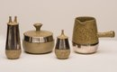 Roman Bartkiw, Cream jug, sugar pot, salt shaker and pepper pot, circa 1960