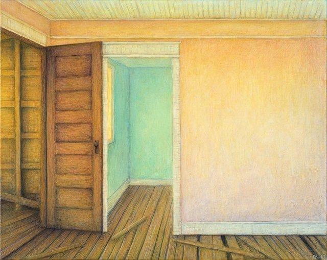 "Debbie Wozniak-Bonk, ""Green Room,"", 2017"