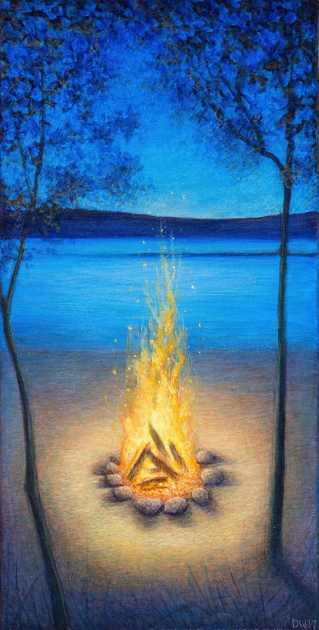 "Debbie Wozniak-Bonk, ""Sit by the Fire,"" 2017"