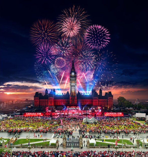 "Stephen Wilkes, ""Canada 150, Ottawa, Canada, Day to Night,"" 2017 (photograph ©Stephen Wilkes)"