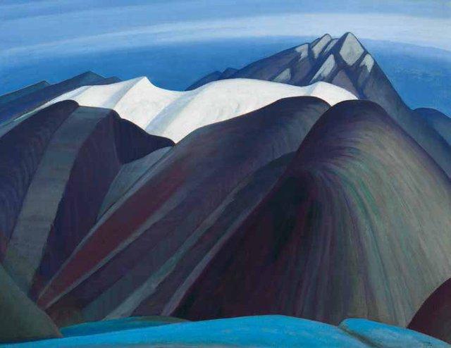 "Lawren Harris, ""Mountains  East of Maligne Lake,"" 1925"