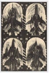 "Carel Moiseiwitsch, ""Untitled (Four Black Jets),"" 1992"