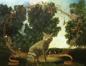 """Swift Fox with Garland"""