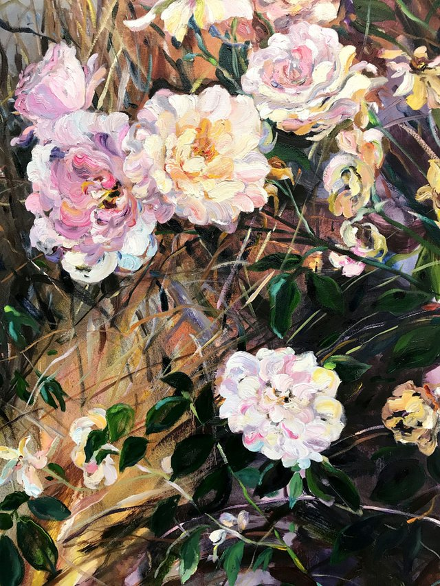 "Krista Johnson, ""City Lot Rose Bush,"" nd"