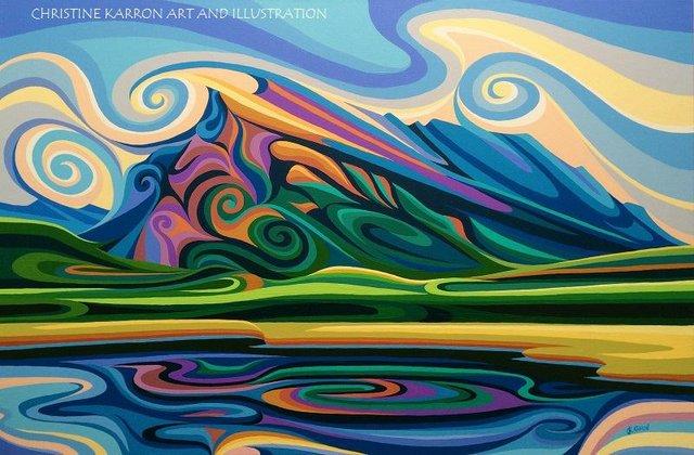 "Christine Karron, ""Mt. Rundle, 2017"