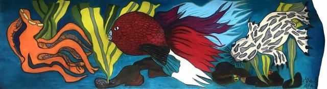 "Shuvinai Ashoona, ""untitled (aquarium),"" 2017"