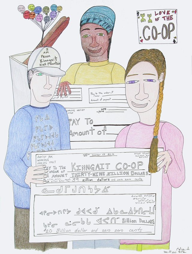 "Shuvinai Ashoona, ""Love of the Co-op,"" 2010"