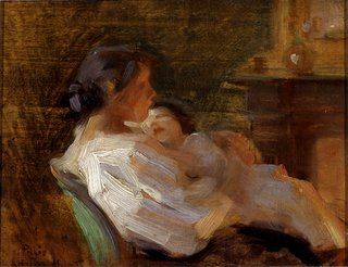 "Laura Muntz Lyall, ""Mother and Child,"" circa 1895"