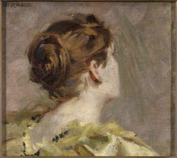 "Mary Hiester Reid, ""Study of a Head,"" circa 1874-1921"