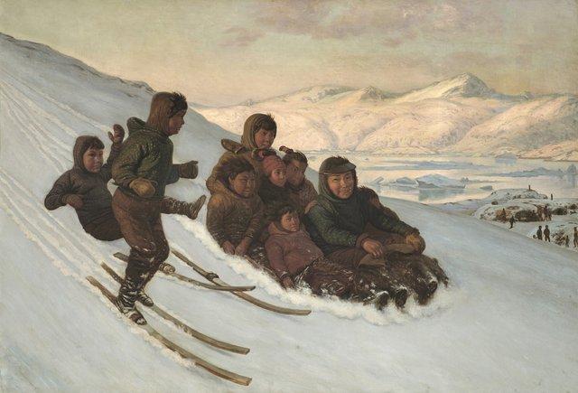 "Carl Rasmussen, ""The Ride Home, Greenland,"" 1875"