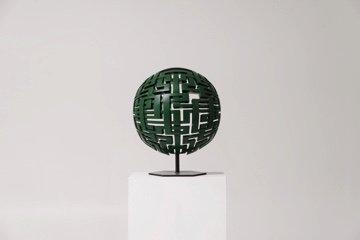 """Mark Ollinger, """"Green Sphere,""""  2017"""