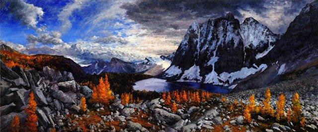 """Tim Schumm, """"Autumn on Flow Lake,"""" nd"""