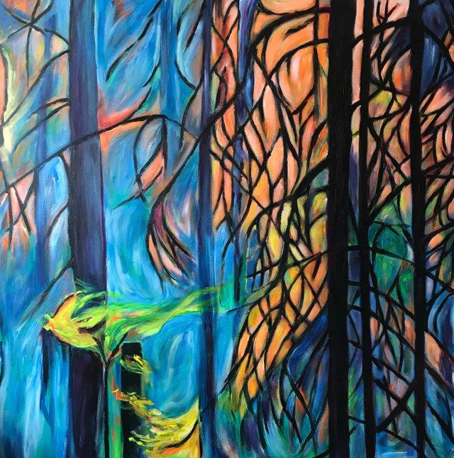 "Vern Gray, ""Kooenay Forest,"" 2017"