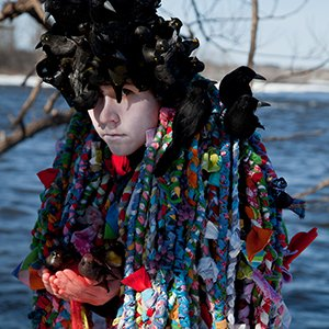 "Meryl McMaster, ""Secret Darkness of Birds (detail),"" 2015"