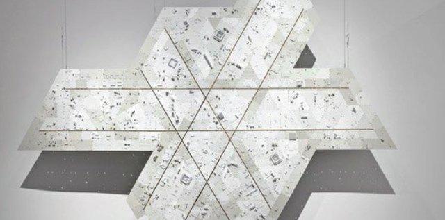 """Wally Dion, """"Icosahedron (detail),"""" 2016"""