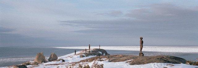 "Peter von Tiesenhausen, ""The Watchers installed on 'The Beamer' Flat Rock, Newfoundland,"" 2017"