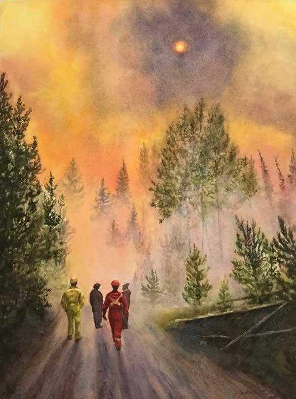"""Elizabeth Eakin, """"Wind and Fire,"""" 2017"""