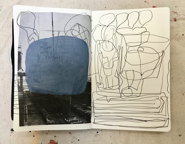 "Mark Dicey, ""Sketchbook,"" 2017"