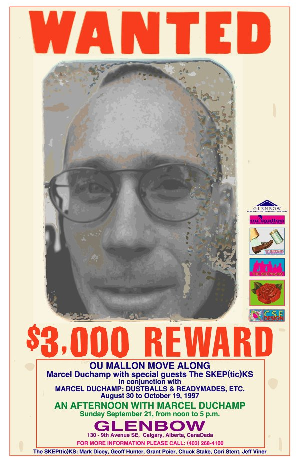 "SKEP(tic)KS, ""Wanted poster for group collaborative performance at the Glenbow Museum,"" 1997"