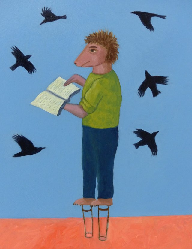 "Sylvia Ziemann, ""Preaching to the Birds,"" 2017"