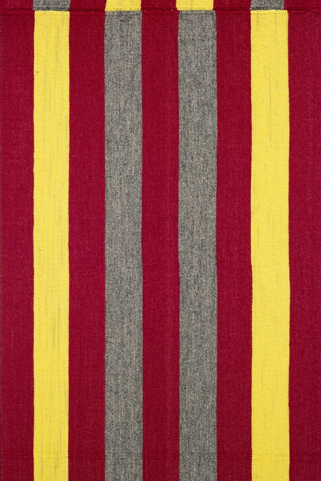 "Brent Wadden, ""Untitled (5 Vertical Red Stripes)"" (detail), 2018"