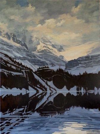 """Georgina Perkins Hunt, """"Evening Reflection - Lake O'Hara,"""" nd"""