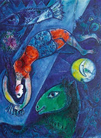 "Marc Chagall (1887-1985), ""The Blue Circus,"" 1950-1952"