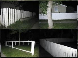 """White Fence at Night"""