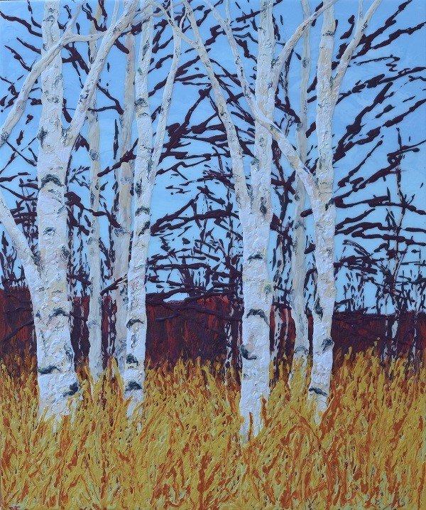 """Angela Lillico, """"BETULA PAPYRIFERA 2 (The Birches),"""" nd"""