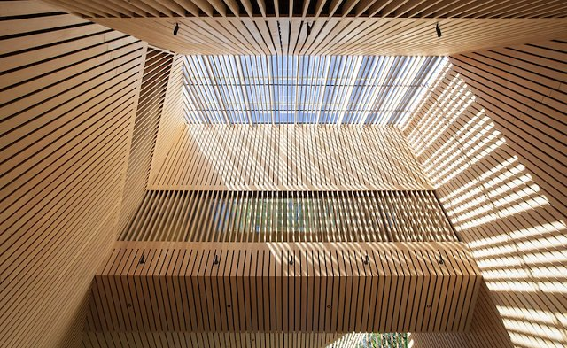 Audain Art Musuem, Patkau Architects. Photo by James Dow, via AIA
