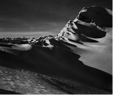 "Jon Goodman, ""Late Sun and Shadow, King's Landing, Columbia Mountains,"" 2015"