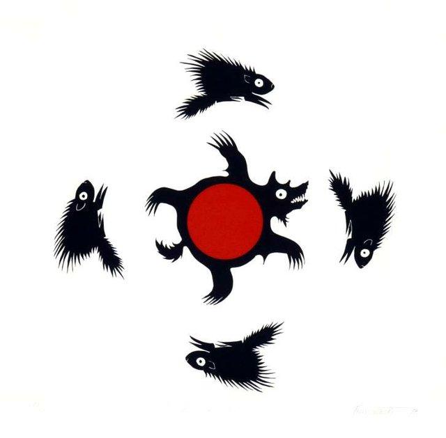 """Noll Derriksan (Toussowasket), """"Four Directions,"""" 1978"""