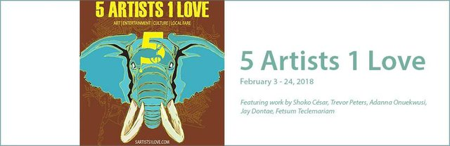 """5 Artists 1 Love,"" 2018"