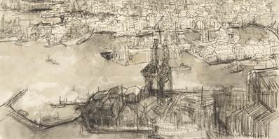 "Molly Lamb Bobak, ""Oslo (detail),"" 1960"