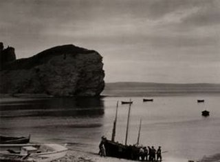 "Paul Strand, ""Beaching the Boat, Percé, Gaspésie,"" 1929, printed 1960s, gelatin silver print.  Gift of anonymous donors, 2017. © Aperture Foundation, Inc., Paul Strand Archive. Photo: NGC"