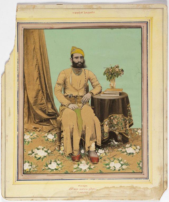 "Ghasiram Haradev Sharma, ""Portrait of Bhadariji Devarajaji,"" 1890s"