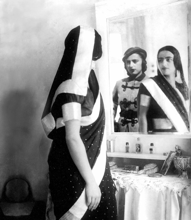 "Vivan Sundaram, ""Doppelganger,"" from the series ""Re-Take of Amrita,"" 2001"
