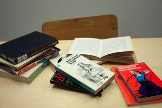 "Alexandra Bischoff, ""Rereading Room: The Vancouver Women's Bookstore (1973-1996) (detail),"" 2016-2017"