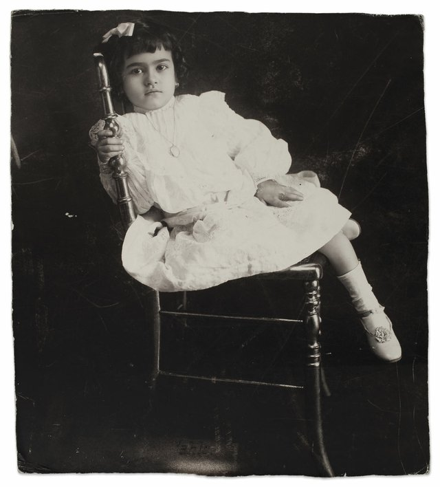 Frida Kahlo at the age of five, anonymous, 1912 ©Frida Kahlo Museum