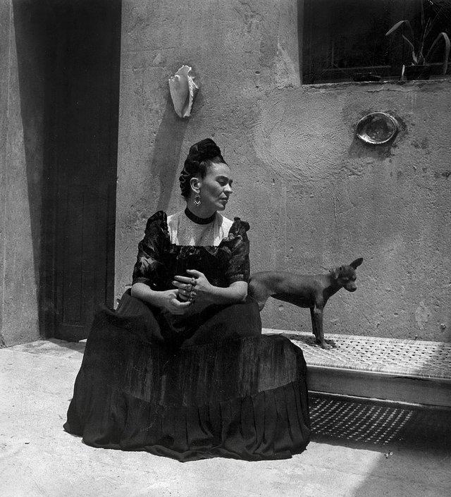 Frida Kahlo by Lola Álvarez Bravo, circa 1944 ©Frida Kahlo Museum