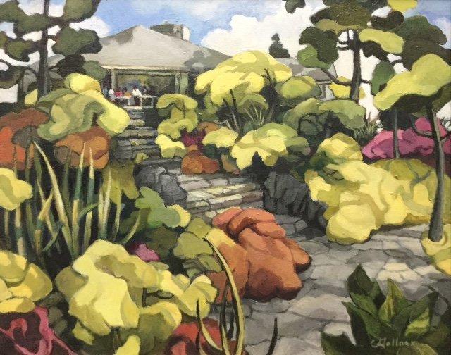 """Christine Gollner, """"Abkhazi Gardens,"""" 2017"""