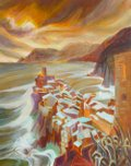 "Robin Woodworth, ""Vernazza Storm,"" nd"