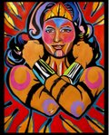 "George Littlechild, ""Indigenous Wonder Woman,"" 2017"