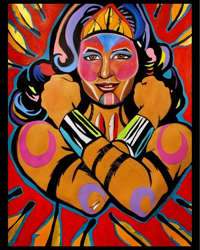"George Littlechild, ""Indigenous Wonder Woman,"" 2017"