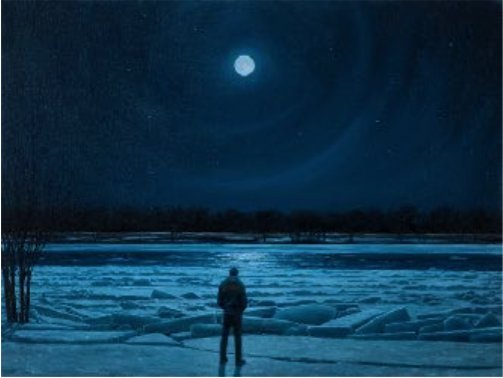 "Tim Gardner,  ""Man in moonlight, Red River,"" 2017"